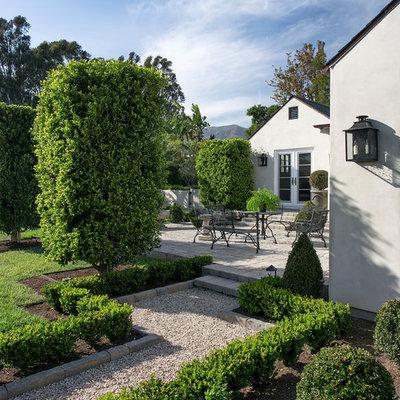 Photo of a farmhouse partial sun gravel garden path in Santa Barbara.