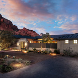 Camelback Mountain Contemporary | Front Entry Drive
