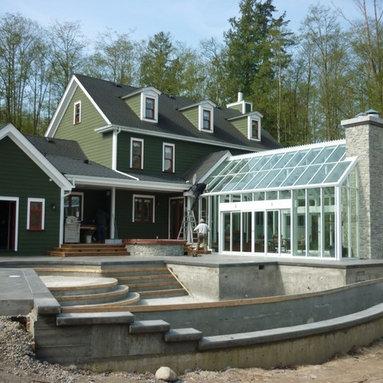 Cape Cod 18x26 Custom Gable Attached Greenhouse -