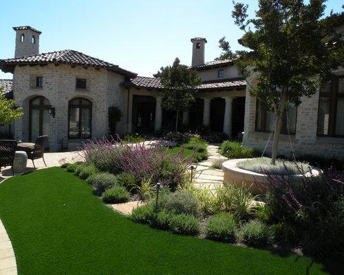 Front yard hardscape home design ideas pictures remodel for Home turf texas landscape design llc