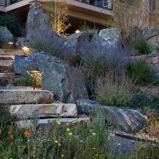 Inspiration for a traditional hillside landscaping in Denver.