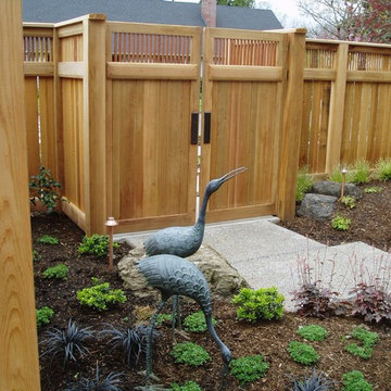 Cedar Fence & Gate with copper pipe