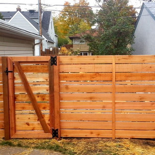 This is an example of a mid-sized backyard landscaping in Minneapolis.
