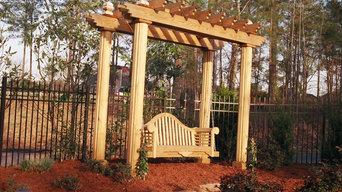 Cedar garden swing