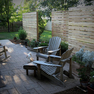 Foto di un giardino formale contemporaneo in ombra di medie dimensioni e dietro casa con pavimentazioni in pietra naturale