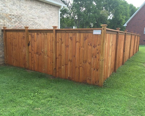 Quot Cedar Tone Quot Stain On A Table Top Cedar Privacy Fence In