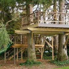Traditional Landscape by Backyard Adventure Design