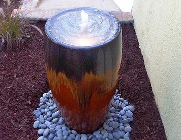 Ceramic Urn Garden Water Features