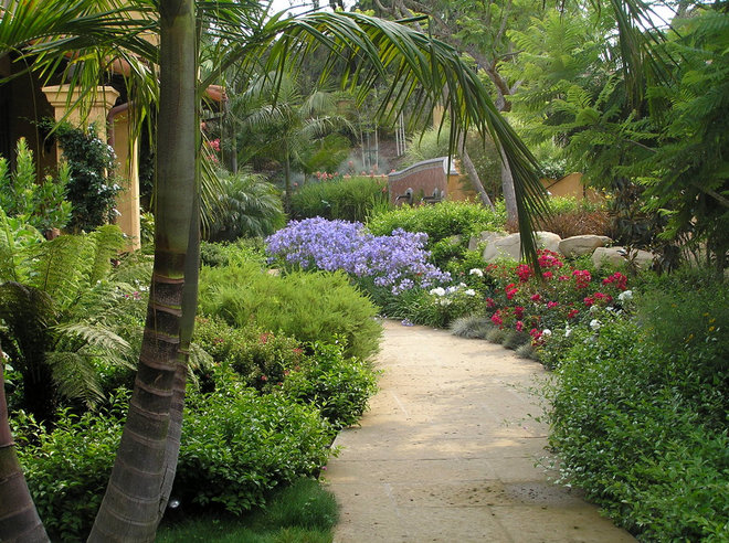 Mediterranean Landscape by Charles McClure -  Professional Site Planning