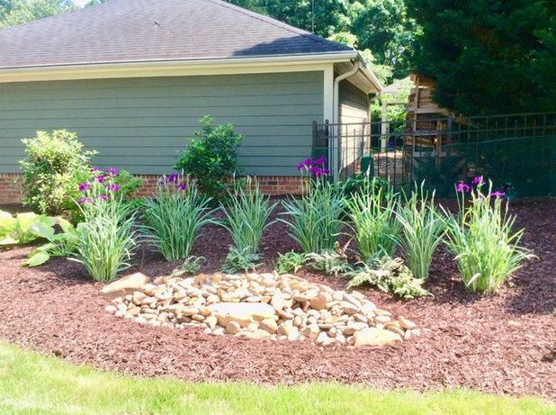 Midcentury Landscape by Ambiance Garden Design, LLC