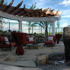 Contemporary Landscape by BellaWood Builders