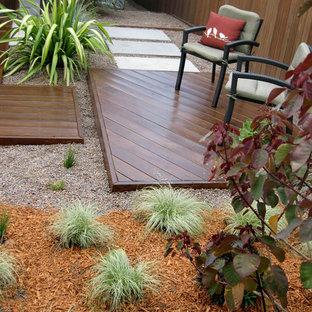 Aménagement d'un petit jardin avant contemporain avec une exposition ensoleillée.