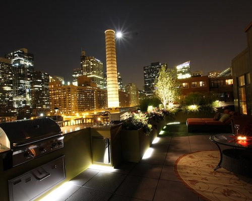 rooftop lighting. inspiration for a modern landscaping in chicago rooftop lighting houzz