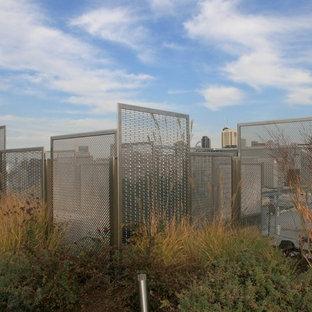 Idee per un giardino minimalista esposto in pieno sole di medie dimensioni e sul tetto