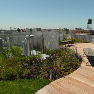 Exemple d'un jardin sur toit moderne de taille moyenne avec une exposition ensoleillée.