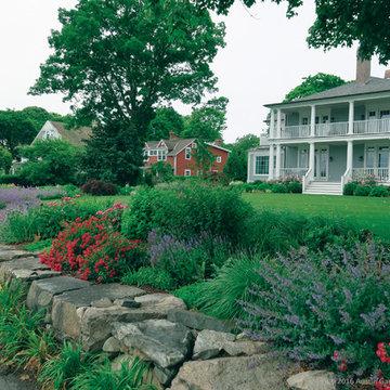 Circular Waterfront Garden - Darien, CT