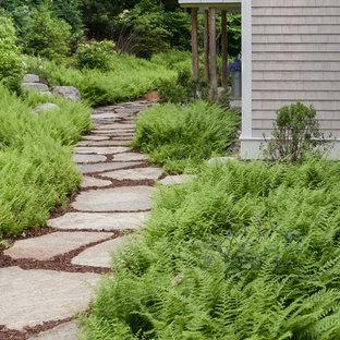 Design ideas for a beach style garden path in Portland Maine.