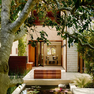 This is an example of a classic garden in San Francisco with a water feature.