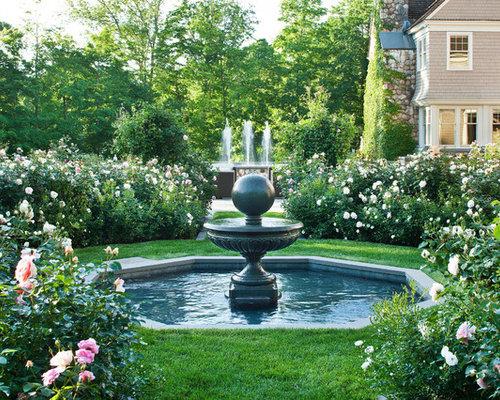 Garden Ideas New England classic new england farmhouse formal garden ideas & design photos