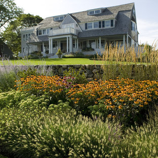 Modelo de jardín parterre de flores, marinero, en patio delantero