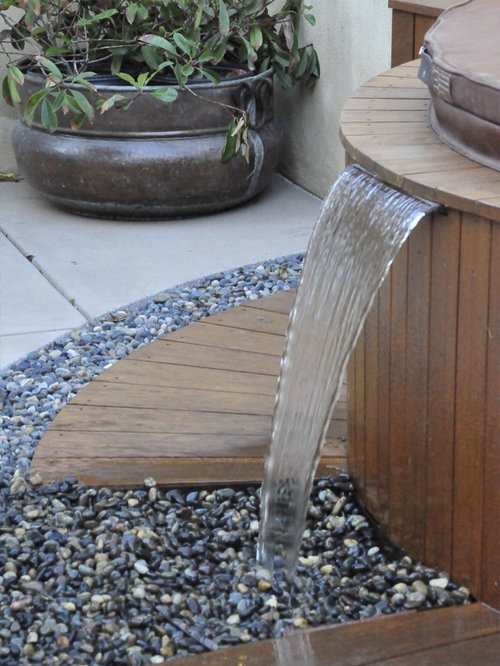 Hot Tub Water Feature Home Design Ideas Pictures Remodel