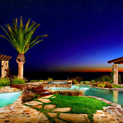 mediterranean landscape by Rene Grivel & Associates Inc