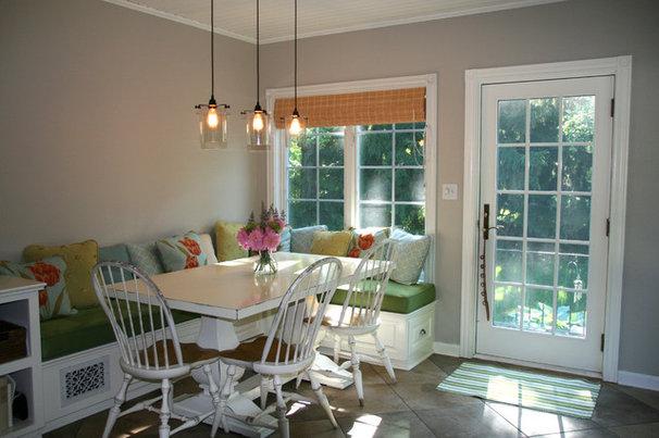 Transitional Landscape Colorful cottage kitchen