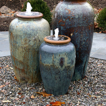 Colorful Fountain Urns