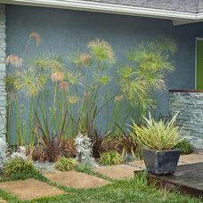Midcentury Landscape by Kropat Interior Design