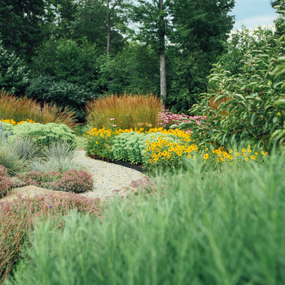 Inspiration for a traditional landscaping in Boston.