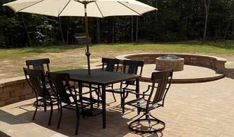 Concrete Paver Patio, Seat Wall & Fire Pit