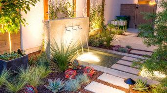 Concrete water fountain