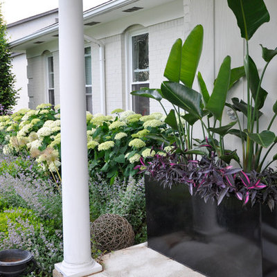 This is an example of a traditional front yard landscaping in Columbus.