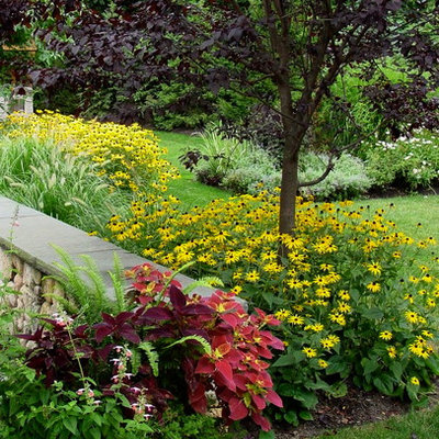 Inspiration for a small traditional full sun backyard landscaping in Boston for summer.