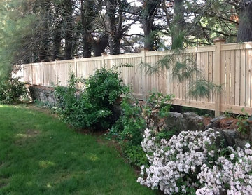 Contemporary Flatboard Picket Fence