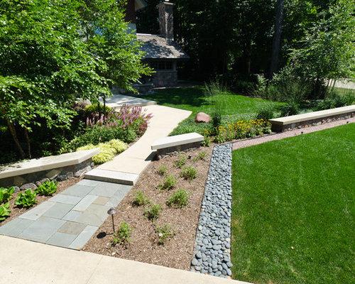 229 front yard expansive and large craftsman landscape design photos