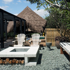 Tropical Landscape Contemporary Hut