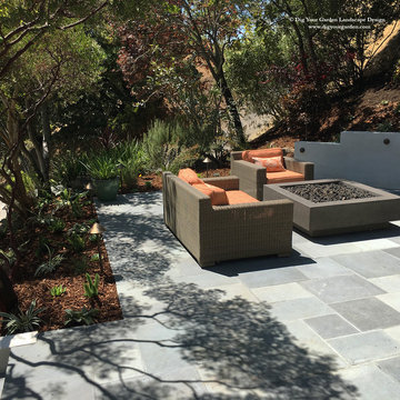 Contemporary Landscape and  Exterior Remodel in Kentfield, CA