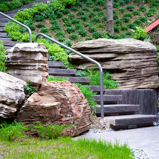 Design ideas for a contemporary hillside landscaping in Other.