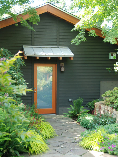 Inspiration for a contemporary shade stone landscaping in Seattle. & Door Overhang | Houzz Pezcame.Com