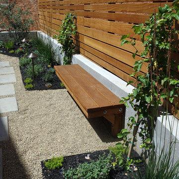 Contemporary Landscape Design for a Narrow Back Yard in Napa, CA