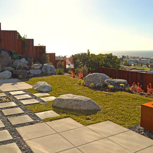 This is an example of a contemporary rock landscaping in Orange County.