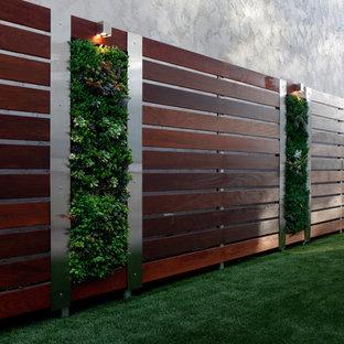 Modelo de jardín actual con jardín vertical