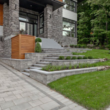 Contemporary front landscaping
