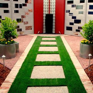 Modelo de jardín contemporáneo de tamaño medio
