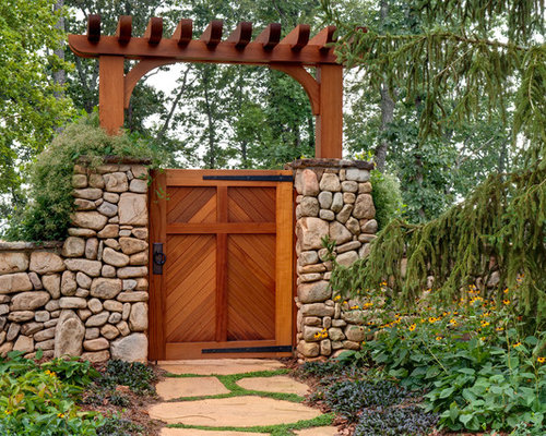 Redwood gate home design ideas pictures remodel and decor for Rustic garden gate designs