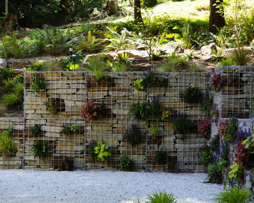 design ideas for a contemporary landscape in seattle retaining wall - Retaining Wall Designs Ideas