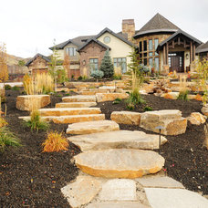 Traditional Landscape by Higher Grounds Landscape Services
