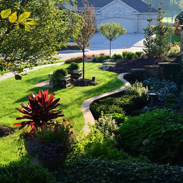 Corner lot Courtyard