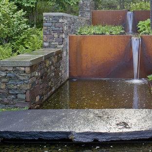 Photo of an industrial water fountain landscape in Burlington.